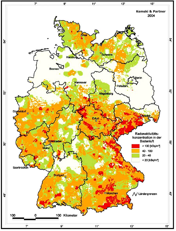 Radonkarte Deutschland